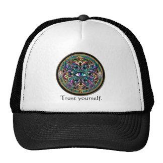 Trust Yourself ~ The Eyes of the World Mandala Trucker Hat