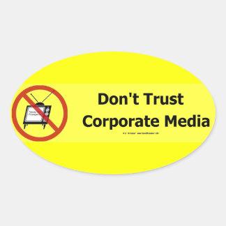 TrustCorpMedia Oval Sticker