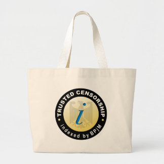 Trusted Censorship Large Tote Bag
