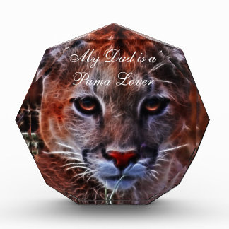 Trusted mountain lion acrylic award