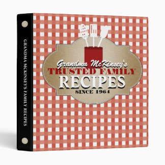 Trusted Recipes Personalized Binder