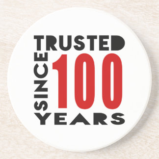 Trusted Since 100 Years Drink Coaster