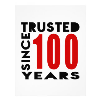 Trusted Since 100 Years Letterhead