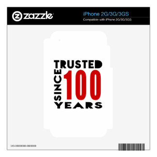Trusted Since 100 Years Skin For The iPhone 3G