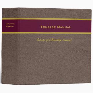 Trustee Manual with Custom Name Estate Plan binder