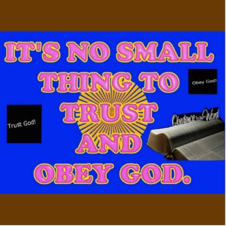 Trusting and obeying God is no small task. Statuette