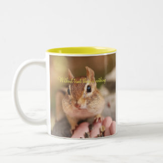Trusting Chipmunk Two-Tone Coffee Mug