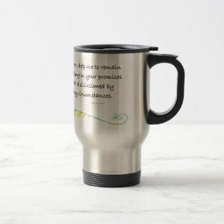 trusting in your promises travel mug