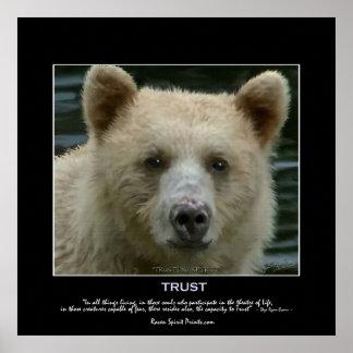 """TRUSTING SPIRIT"" Art Poster"