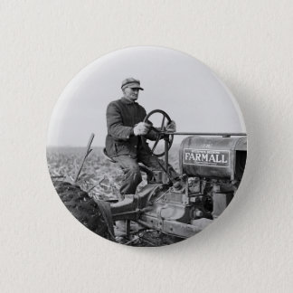 Trusty Old Tractor, 1930s Button