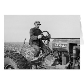 Trusty Old Tractor, 1930s Card