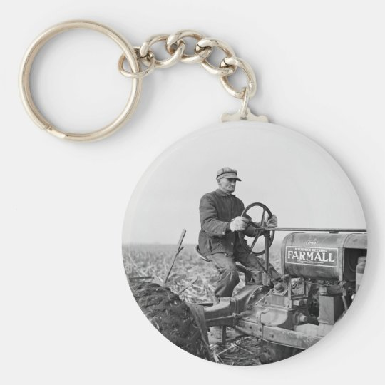Trusty Old Tractor, 1930s Keychain