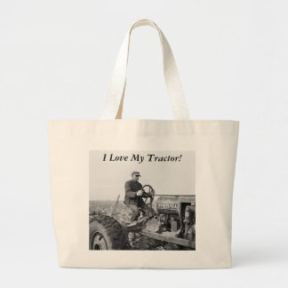 Trusty Old Tractor, 1930s Large Tote Bag