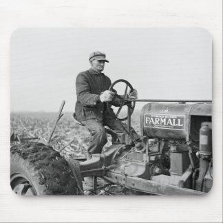 Trusty Old Tractor, 1930s Mouse Pad