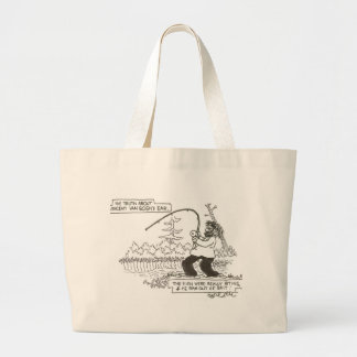 Truth about Van Gogh's ear...He ran out of bait... Large Tote Bag