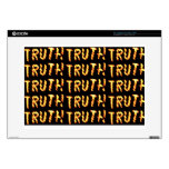 "TRUTH alone prevails : Teach wisdom words 2 KIDS 15"" Laptop Skins"