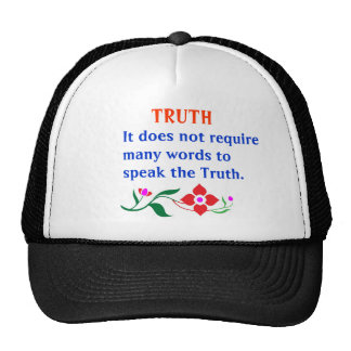 TRUTH :  American Indian Words of Wisdom Hat