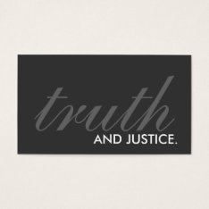 Truth And Justice. (color Customizable) Business Card at Zazzle