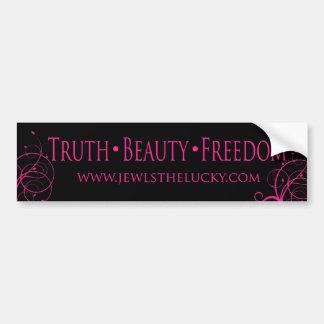 Truth Beauty Freedom Bumper Sticker