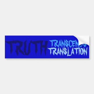 TRUTH BLUE BUMPER BUMPER STICKER