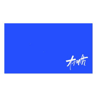 TRUTH BLUE WHITE MOTIVATIONAL SAYINGS MOTTO ALWAYS BUSINESS CARDS
