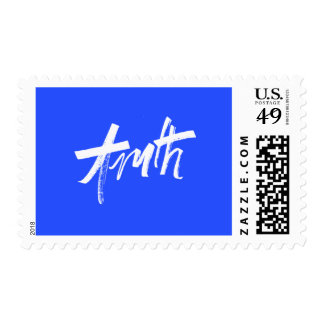 TRUTH BLUE WHITE MOTIVATIONAL SAYINGS MOTTO ALWAYS POSTAGE