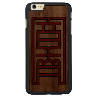 TRUTH CARVED® WALNUT iPhone 6 PLUS CASE