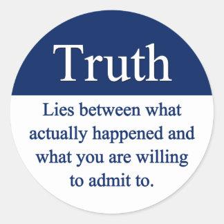 Truth Classic Round Sticker