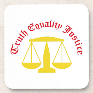Truth Equality Justice Beverage Coasters