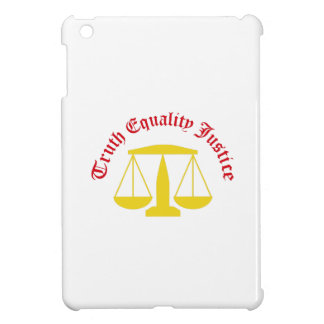 Truth Equality Justice iPad Mini Covers