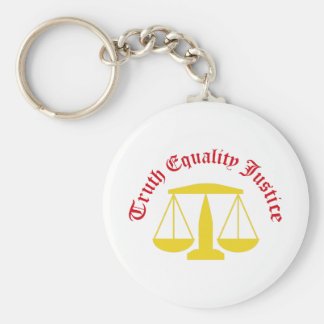 Truth Equality Justice Keychains