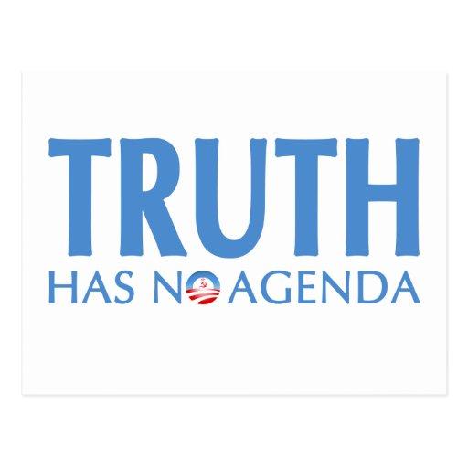 Truth Has No Agenda Postcard