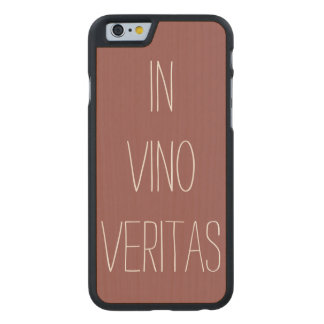 Truth in Wine Carved Maple iPhone 6 Slim Case