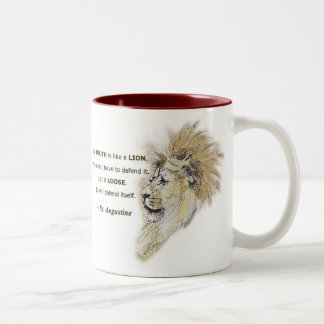 Truth is like a lion. Mug