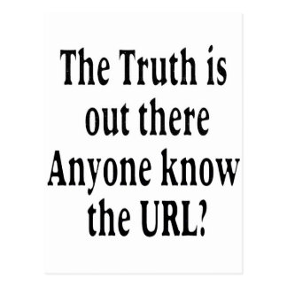 truth is out there postcard