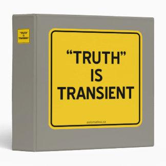 """TRUTH"" IS TRANSIENT BINDER"