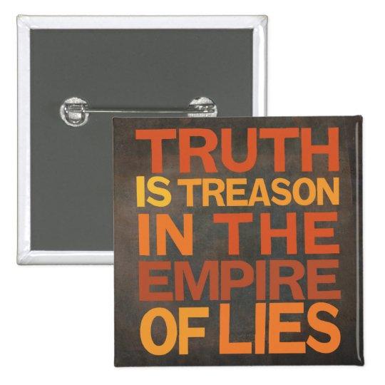 Truth Is Treason Button