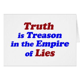 Truth is Treason Card