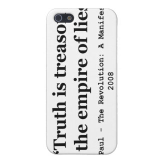 Truth is Treason in the Empire of Lies Ron Paul iPhone 5 Case