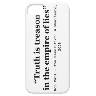Truth is Treason in the Empire of Lies Ron Paul iPhone SE/5/5s Case