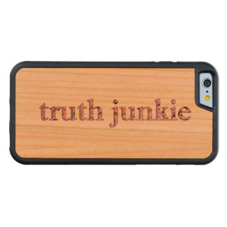 truth junkie carved® cherry iPhone 6 bumper