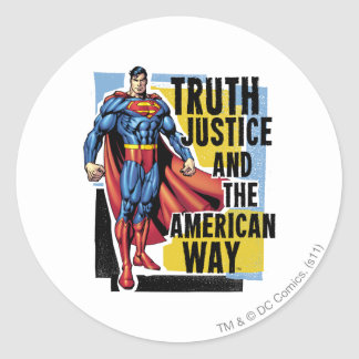 Truth, Justice Classic Round Sticker