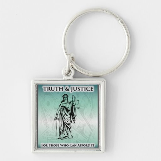 Truth & Justice - Lady Justice Keychain
