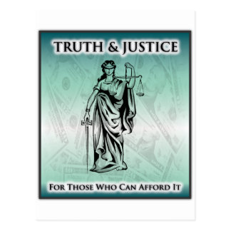 Truth & Justice - Lady Justice Postcard