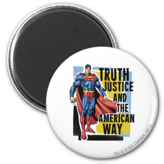 Truth, Justice 2 Inch Round Magnet