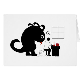 Truth Monster Greeting Card
