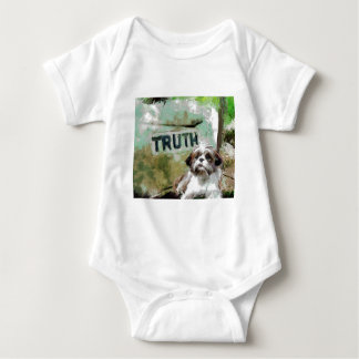 truth needs flexibility. baby bodysuit