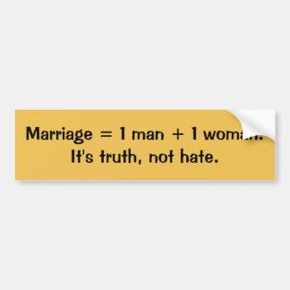 Truth, not hate bumper sticker