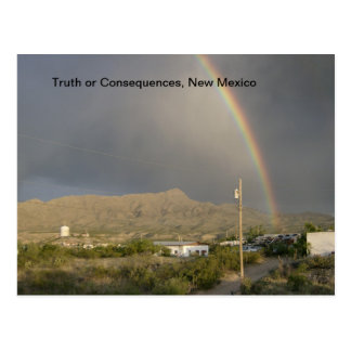 Truth or Consequences, NM rainbow Postcard