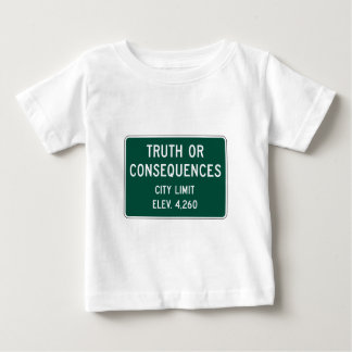 Truth Or Consequences, Road Marker, New Mexico, US Baby T-Shirt